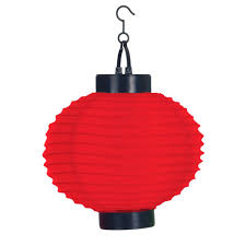 Solar Powered Red Led Lights Pure Garden 4 Light Red Outdoor Led Solar Chinese Lantern
