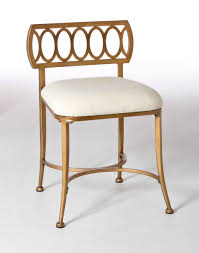 hilale c street vanity stool gold bronze