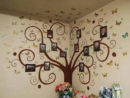 large photo frame wall stickers olive tree decals for children room art family picture bed bath