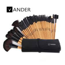 vander brown 32pcs makeup brush set professional cosmetic kits brushes foundation powder blush eyeliner pincel maquiagem