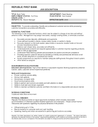 Resume Objective Bank Free Download Bank Teller Resume Objective For
