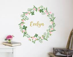 Small Picture Flower Name Wreath Decal VI YOUR DECAL SHOP NZ Designer Wall