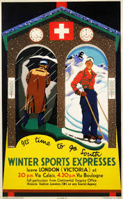 Winter Sports Expreses', SR poster, 1934. by Weber, Audrey at Science and  Society Picture Library