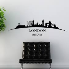 london city skyline wall stickers landscapes art decal sl1