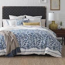 oaxaca white blue fl bedding collection