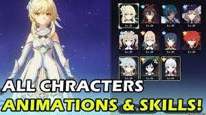 Genshin Impact] All 11 Characters Idle Animations, Skills, & Gameplay! (PC)  - YouTube