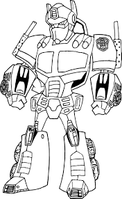 Small Picture Transformers Optimus Prime Robot Coloring Page Wecoloringpage