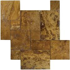 travertine 4 sz versailles pattern set gold