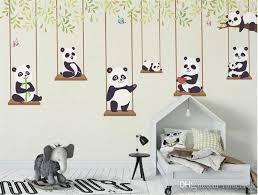 3d Custom Cartoon Painting Wallpaper Cartoon Panda Kids Room Background  Wallpaper Waterproof Environment Friendly Wall Mural Wallpapers Downloads  Wallpapers ...