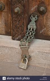 old door closer at a histroical door tanzania sansibar stone town