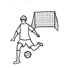 Disegni Da Colorare Bambini I Cristiano Che Gioca A Calcio