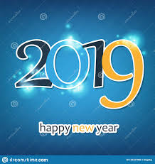 happy new year greeting card template with hanging decorations ...