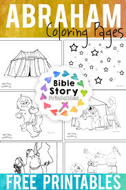 Find & download free graphic resources for kids coloring. Abraham Bible Coloring Pages Bible Story Printables
