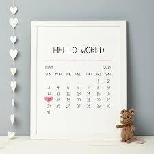 personalised baby birth date print