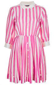Topshop Pink Stripe Shirtdress My Style Pinterest Pink Pink Striped Shirt Dress Topshop