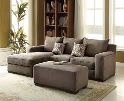 gray chenille sectional sofa nailhead