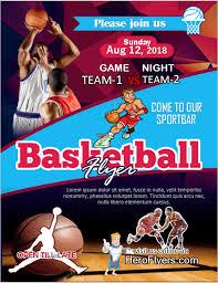 Sample Of Flyer Basketball Game Flyer Design Sample Hero Flyers