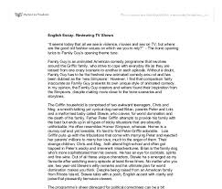 research paper essay examples english essay topics for students  english essay reviewing tv shows it seems today that all we see document image preview