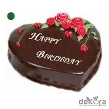 Happy Birthday Heart Shaped Chocolate Cake