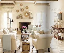 ... Exquisite Rustic Living Room Decor With White Sofas Wood Coffee Table  ...