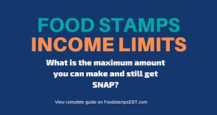 food sts income limits 2021 food