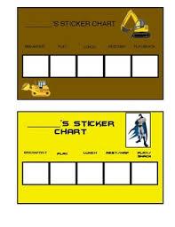 Bulldozer And Batman Sticker Chart