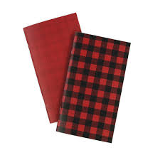 Daily Calander Echo Park Red Buffalo Plaid Collection Travelers Notebook Insert Daily Calendar