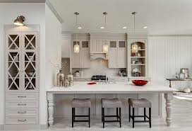 Light Gray Kitchen Cabinets With Arabesque Tile Backsplash Extraordinary Kitchen Cabinet Backsplash