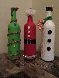 How To Decorate A Wine Bottle For Christmas Repurposed Wine Bottle Christmas Decor by JonesHomeDecor on Etsy 8