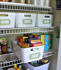 this is my favorite way to organize inside a pantry and/or linen closet -  using uniform bins to hold smaller items - this organized gal attached  temporary ...