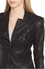 faux leather jacket blanknyc preforated stitching nordstrom