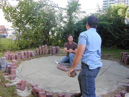 step 3 how to lay a circular paver patio