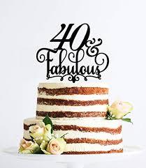 Amazoncom 40 And Fabulous Birthday Cake Topper 40th Birthday