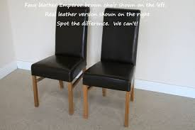 of the 1 8 2 3m oak dining set pictured above with 6 chairs is 795 extra faux leather emperor chairs 59 99 each can seat 8