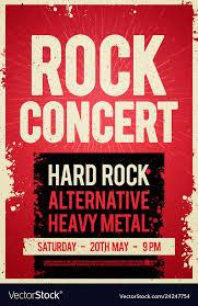 Concert Poster Design Rock Concert Retro Poster Design On Old Paper Text