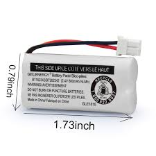 Battery Mhos Chart Geilienergy Replacement Battery Bt162342 Bt262342 Bt166342 Bt266342 Bt183342 Bt283342 Compatible For Vtech At T Cordless Telephones Cs6114 Cs6419