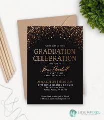 Graduation Announcements College Template College Graduation Invitation Template Grad Party Invites