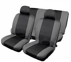 XtremeAuto® 9 piece Car seat cover set. BLACK/GREY. Includes seat ...