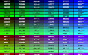 Sample Css Color Chart Sample CSS Color Codes Free Download 1