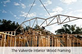 the valverde wood interior framing