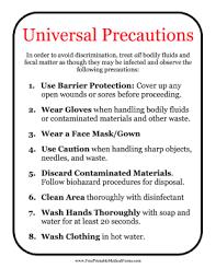 Printable Universal Precautions Sign