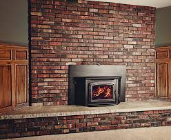 contemporary home interior design ideas using electric gas fireplace insert decoration classy brown mosaic brick