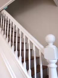 Painted Wood Stairs Carpeted Stairs White Baluster All White Stairs Pinterest
