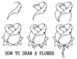 736x566 photos easy rose drawing step by step