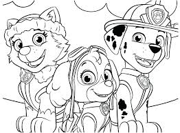 Coloring Pages Paw Patrol Coloring Pages Skye S Sheets Page Free