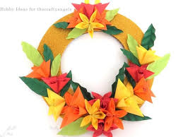 How To Make Origami Paper Flower Kusudama Paper Flower Christmas Wreath Tutorial The Crafty