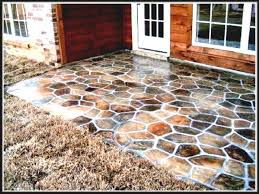 Diy Concrete Patio Ideas Floor Outside Flooring Easy Install Outdoor Cheap