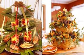 thanksgiving table centerpieces. Add Some Simple Country Charm To Your Thanksgiving Table With A Beautiful Tiered Centerpiece. Centerpieces