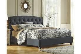 tufted bedroom furniture. Kasidon Queen Tufted Bed, Dark Gray, Large Bedroom Furniture