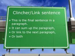 essay writing clincher link